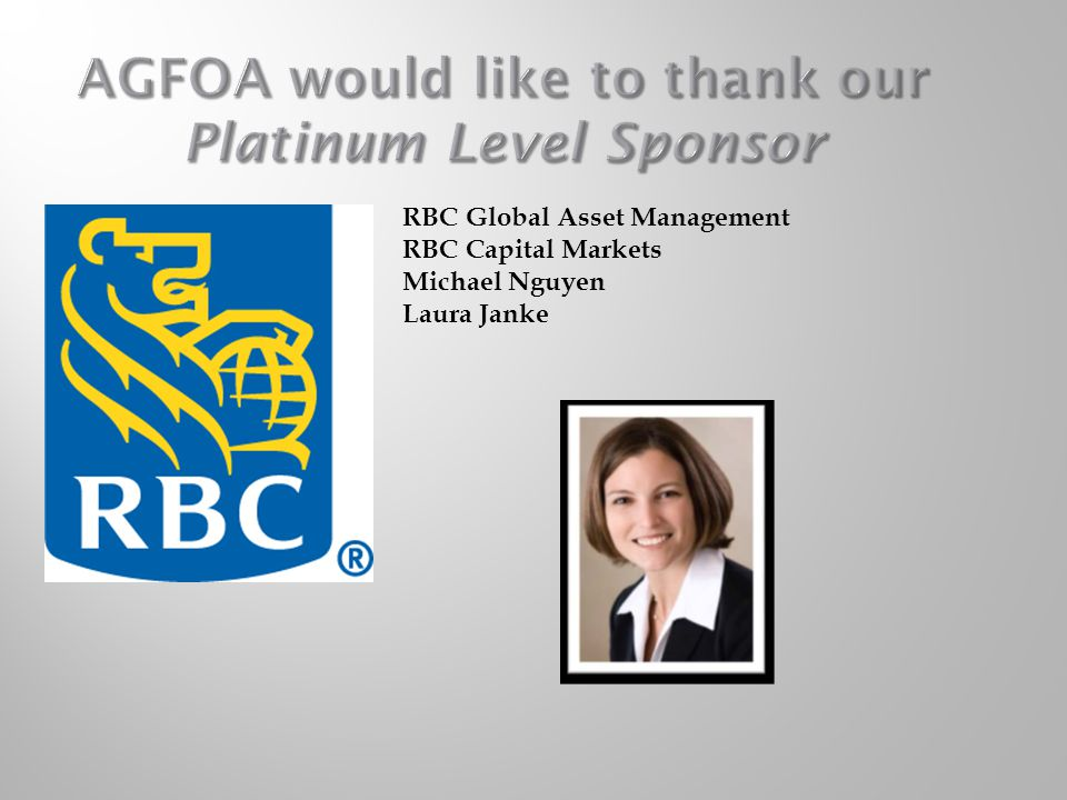 AGFOA would like to thank our Platinum Level Sponsor