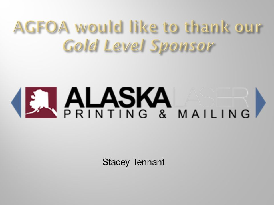 AGFOA would like to thank our Gold Level Sponsor