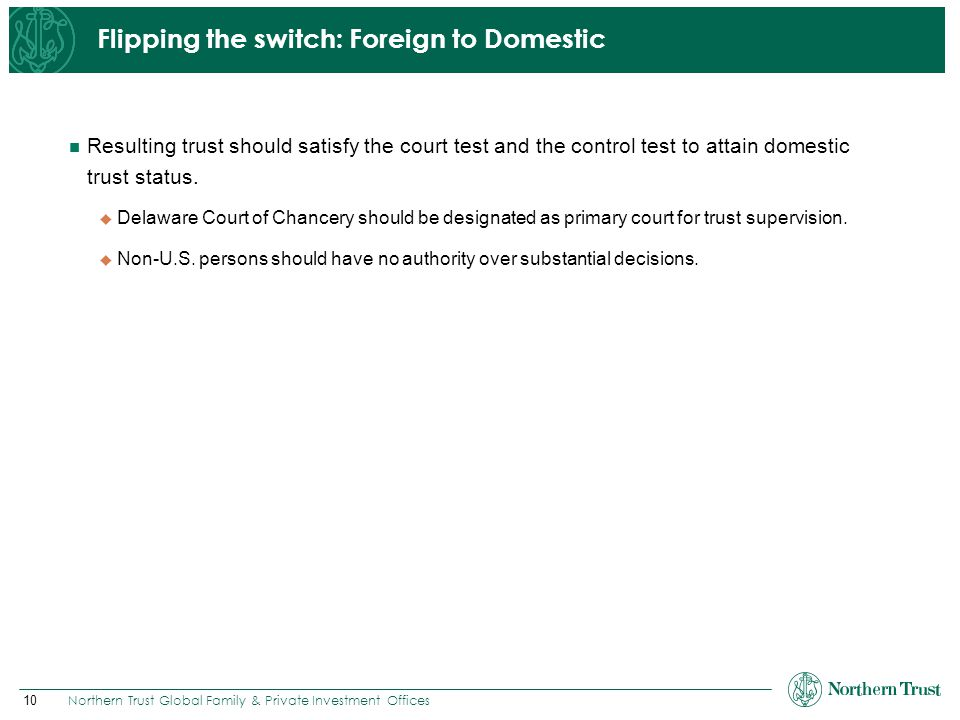 Flipping the switch: Foreign to Domestic