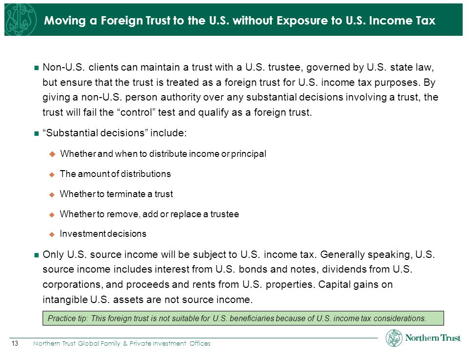 Moving a Foreign Trust to the U.S. without Exposure to U.S. Income Tax