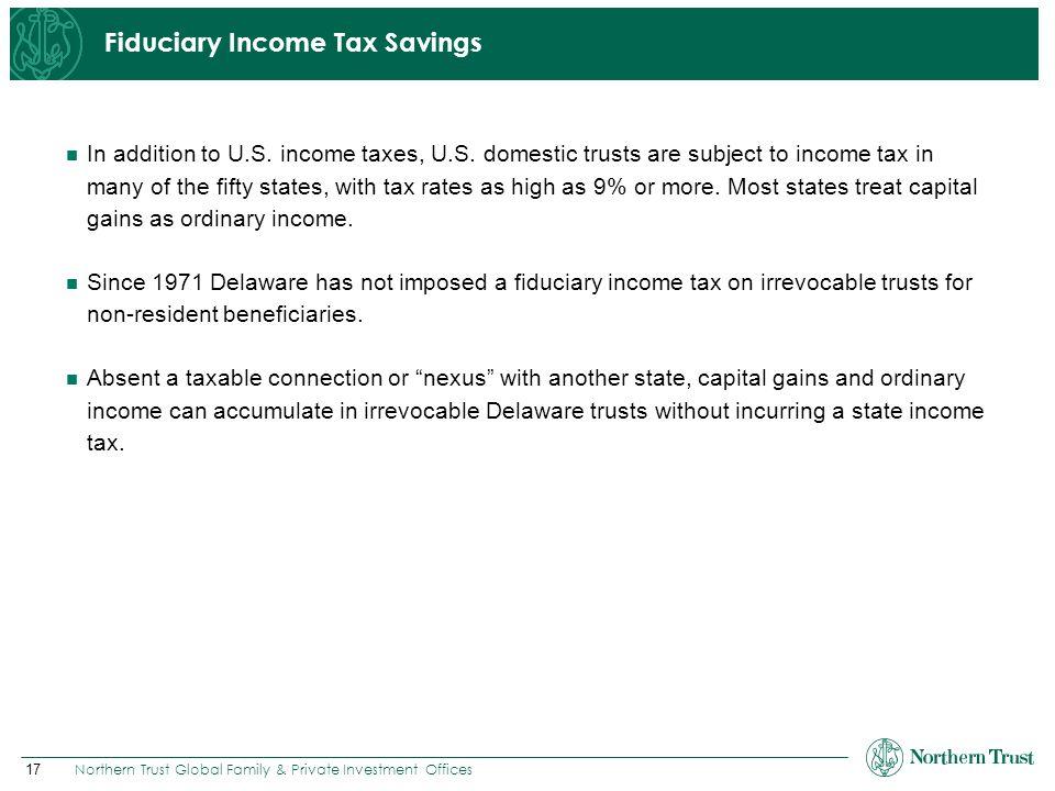 Fiduciary Income Tax Savings