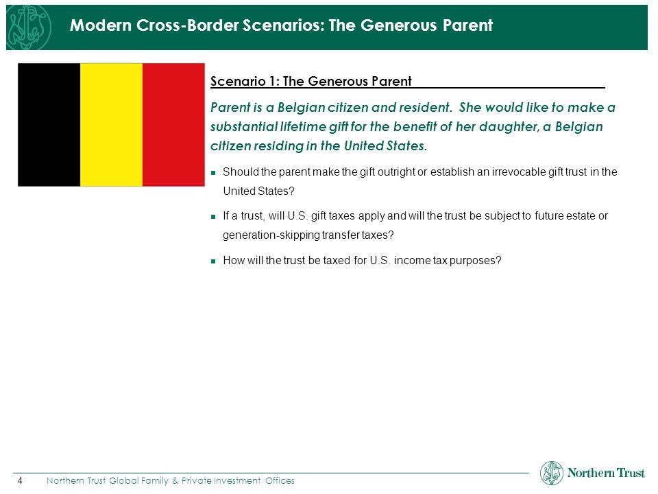 Modern Cross-Border Scenarios: The Generous Parent