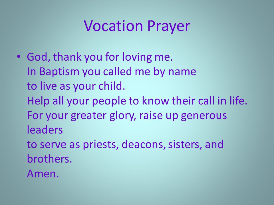 Vocation Prayer