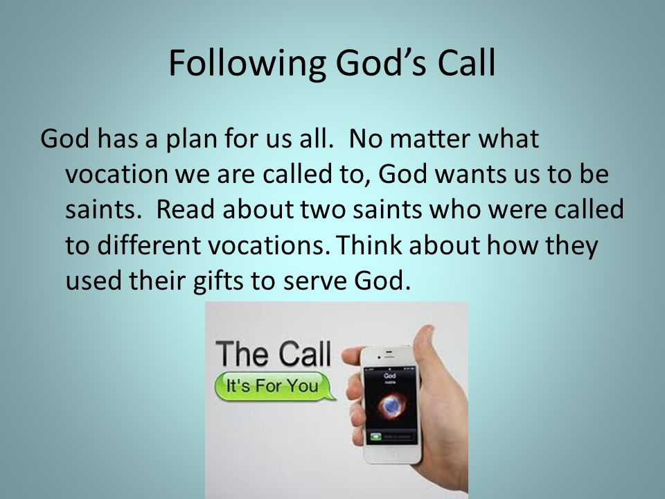 Following God's Call