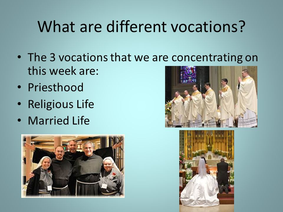 What are different vocations