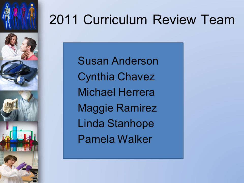 2011 Curriculum Review Team