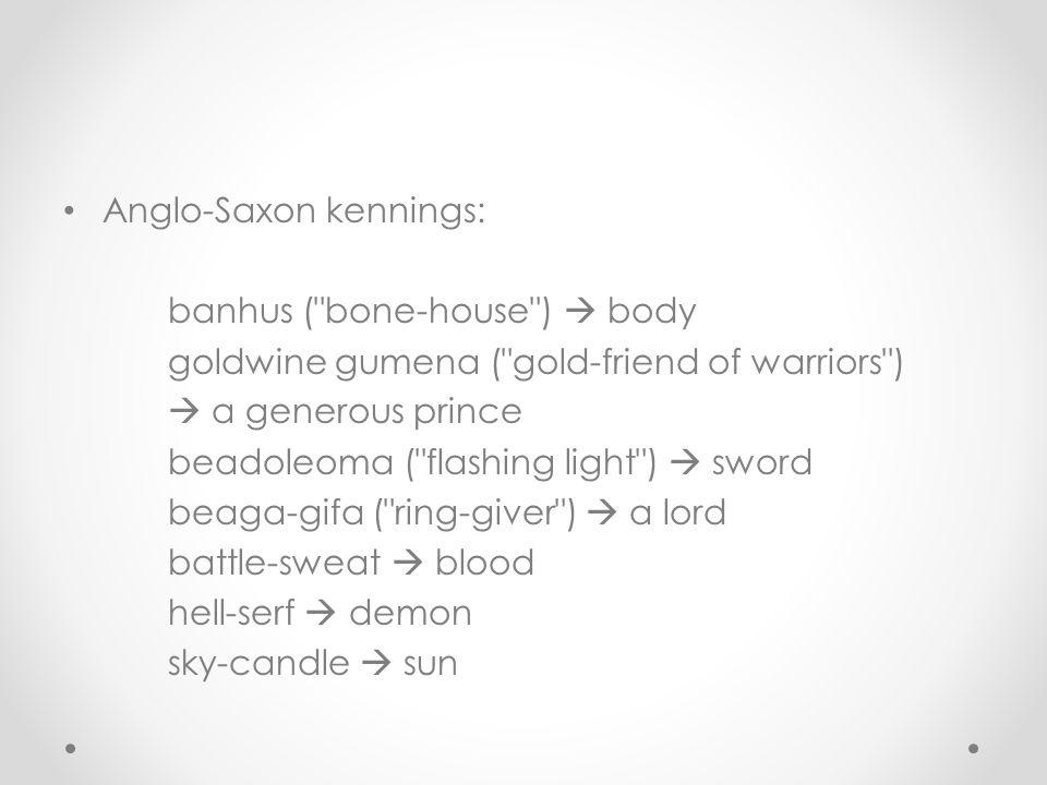 Anglo-Saxon kennings: