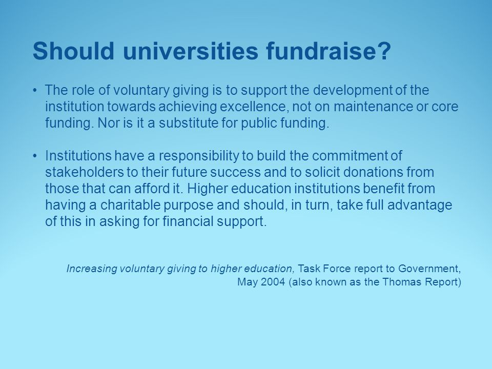 Should universities fundraise