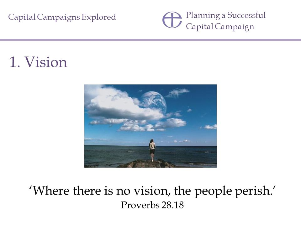 'Where there is no vision, the people perish.'