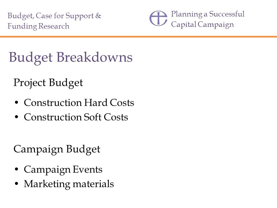 Budget Breakdowns Project Budget Campaign Budget