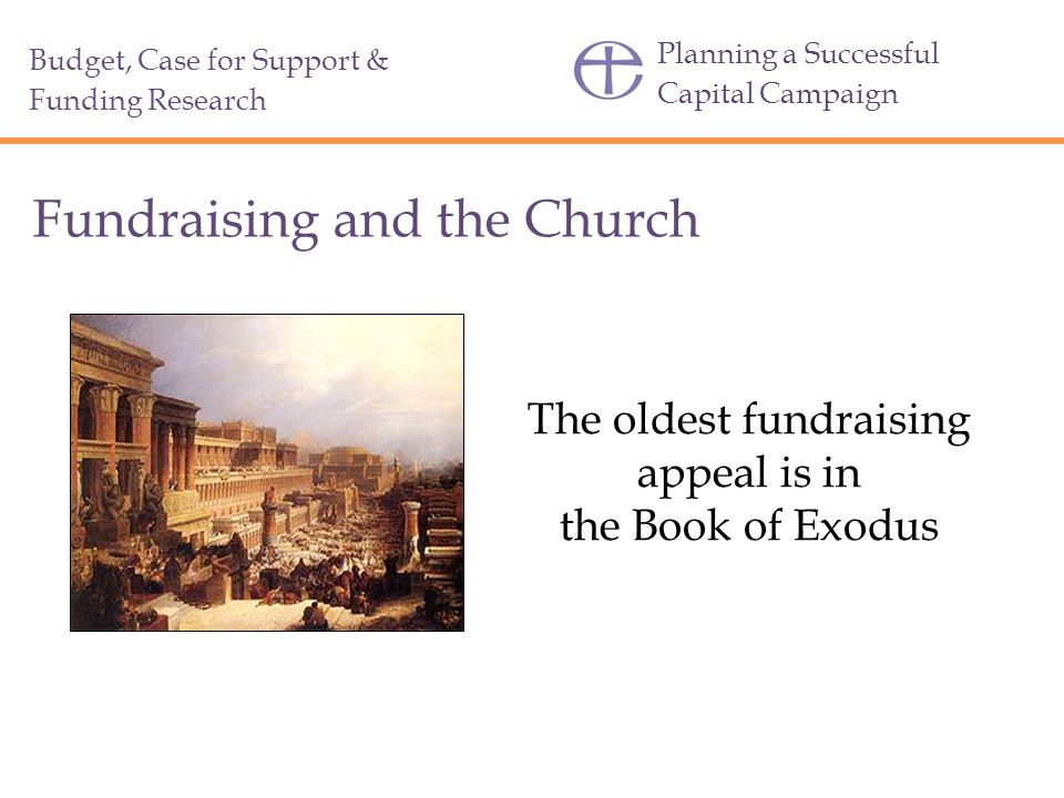 The oldest fundraising appeal is in