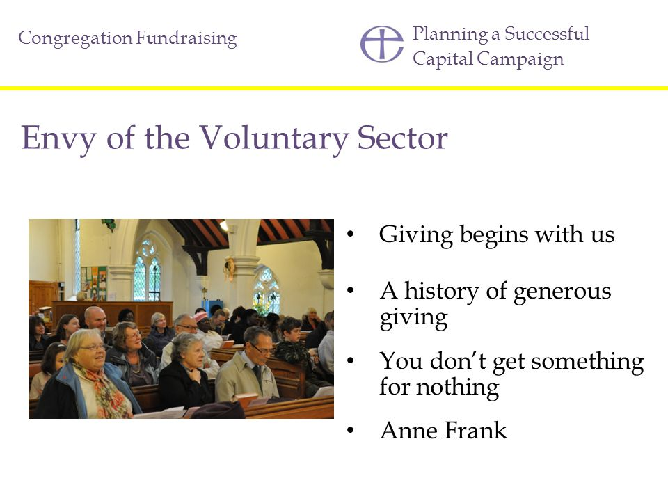 Envy of the Voluntary Sector
