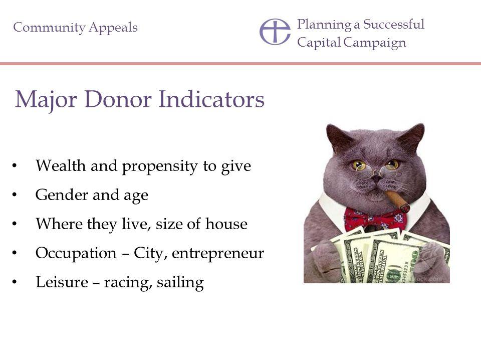 Major Donor Indicators
