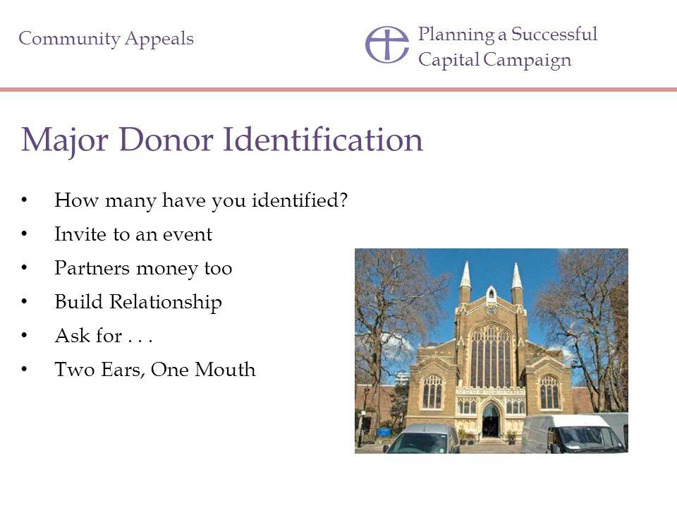 Major Donor Identification