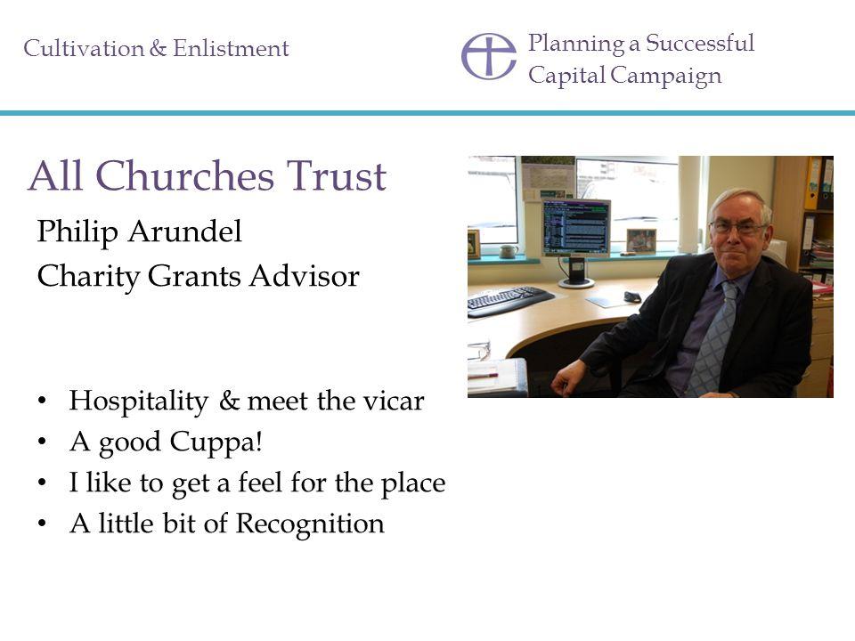All Churches Trust Philip Arundel Charity Grants Advisor