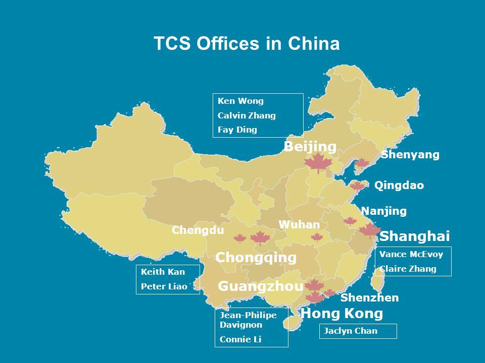 TCS Offices in China Beijing Shanghai Chongqing Guangzhou Hong Kong