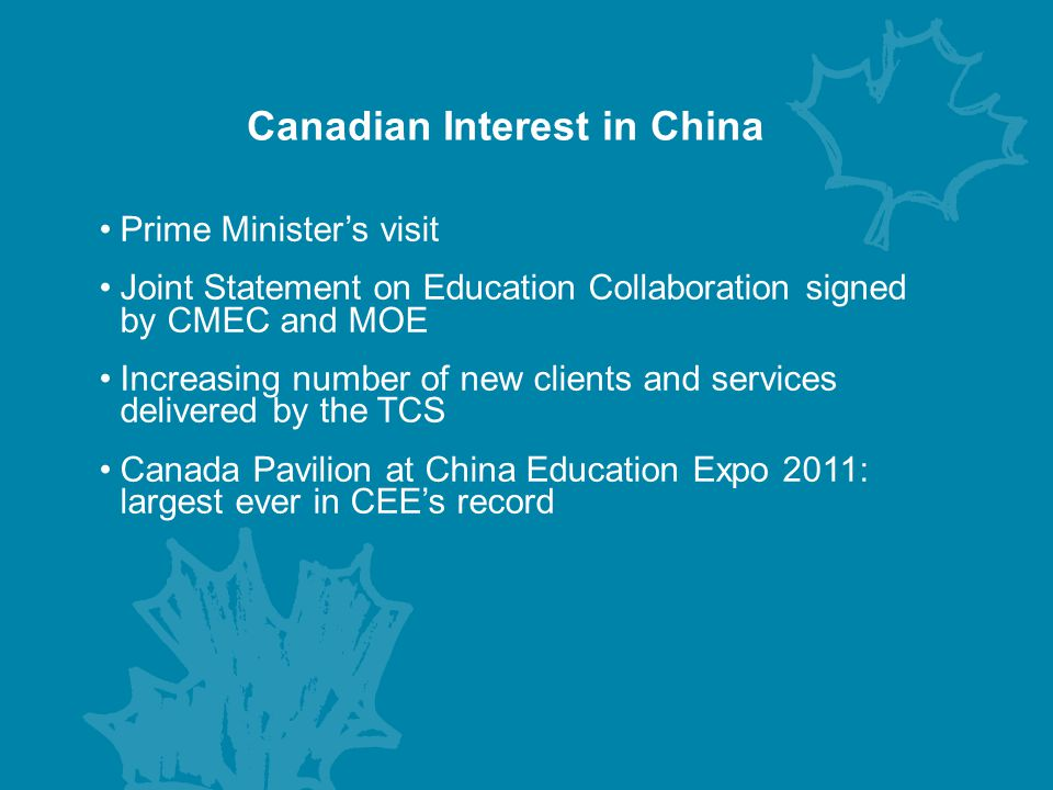 Canadian Interest in China