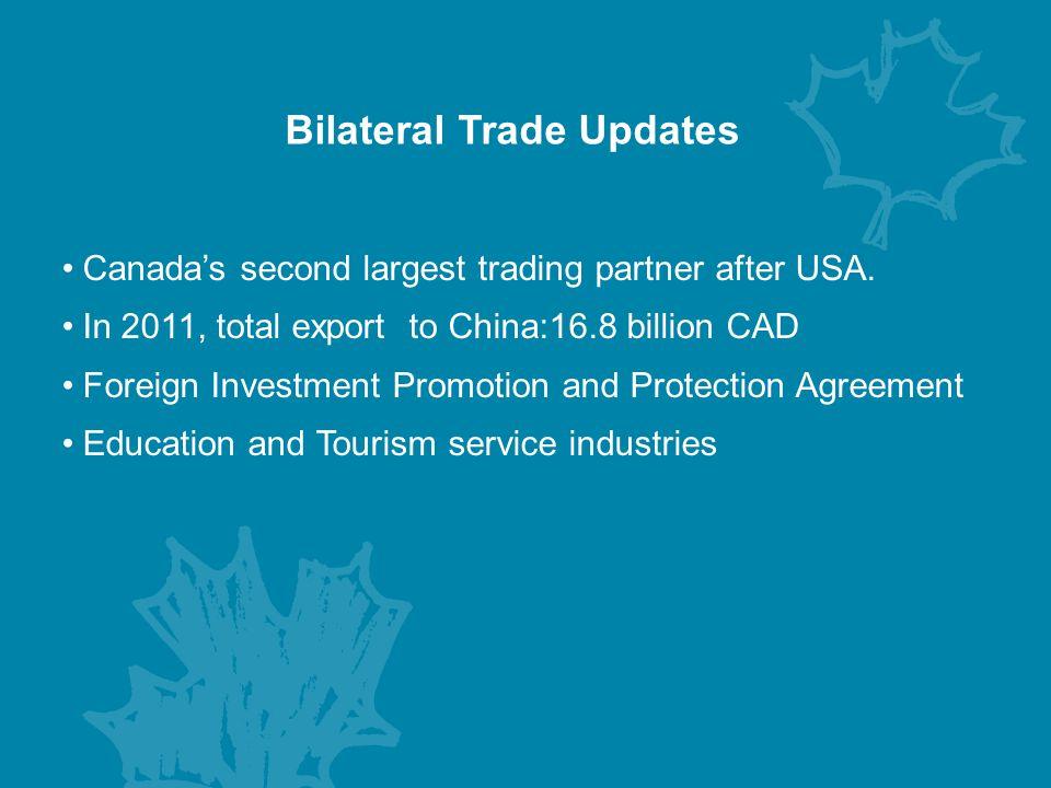 Bilateral Trade Updates