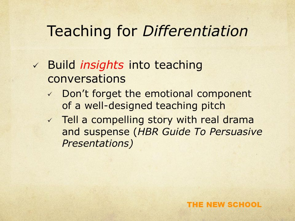 Teaching for Differentiation