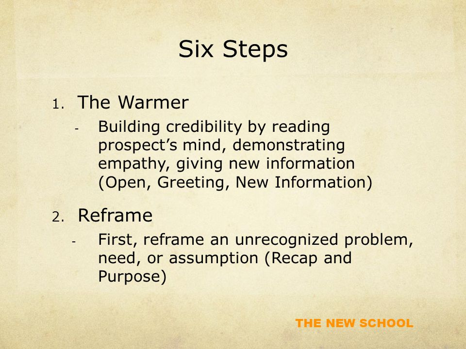 Six Steps The Warmer Reframe