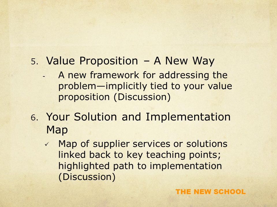 Value Proposition – A New Way