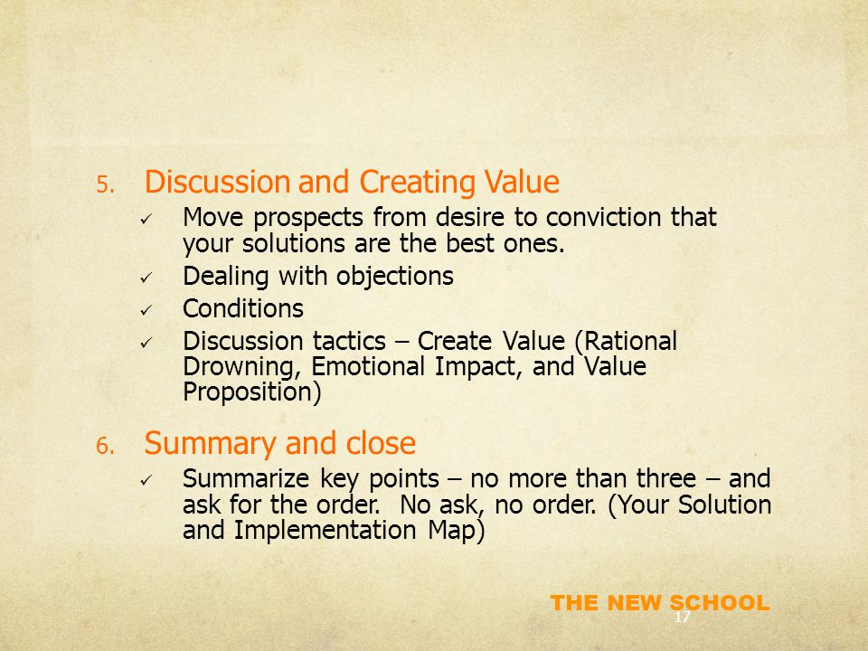Discussion and Creating Value