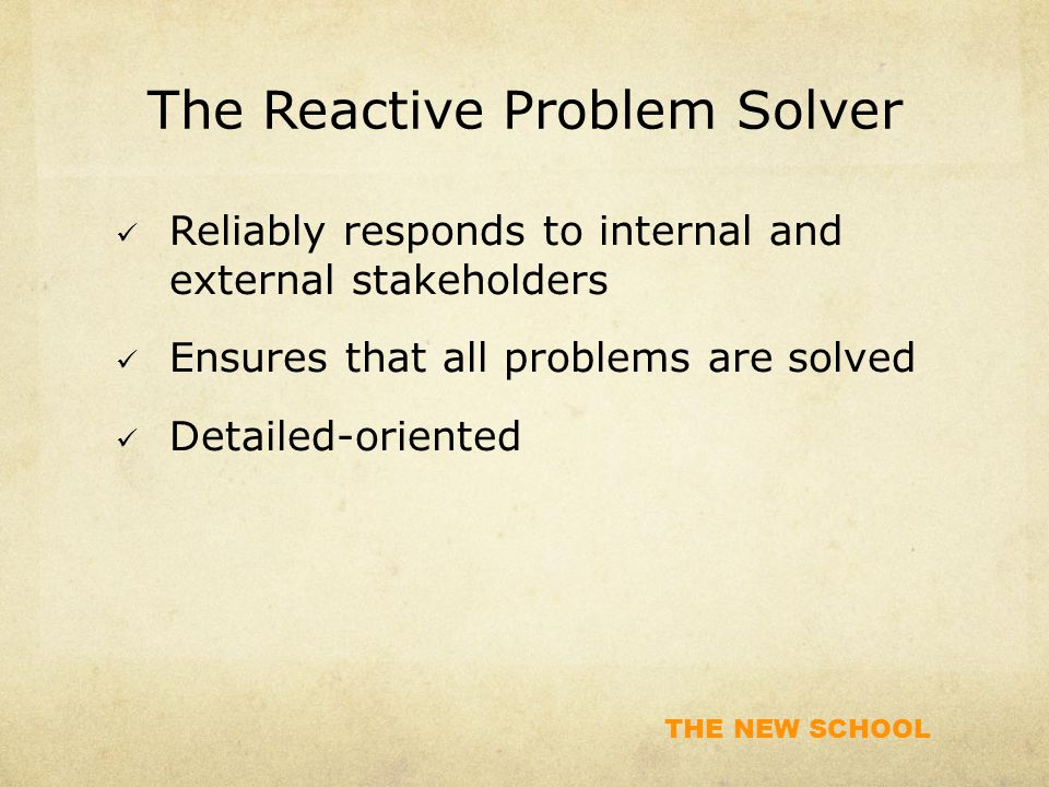 The Reactive Problem Solver