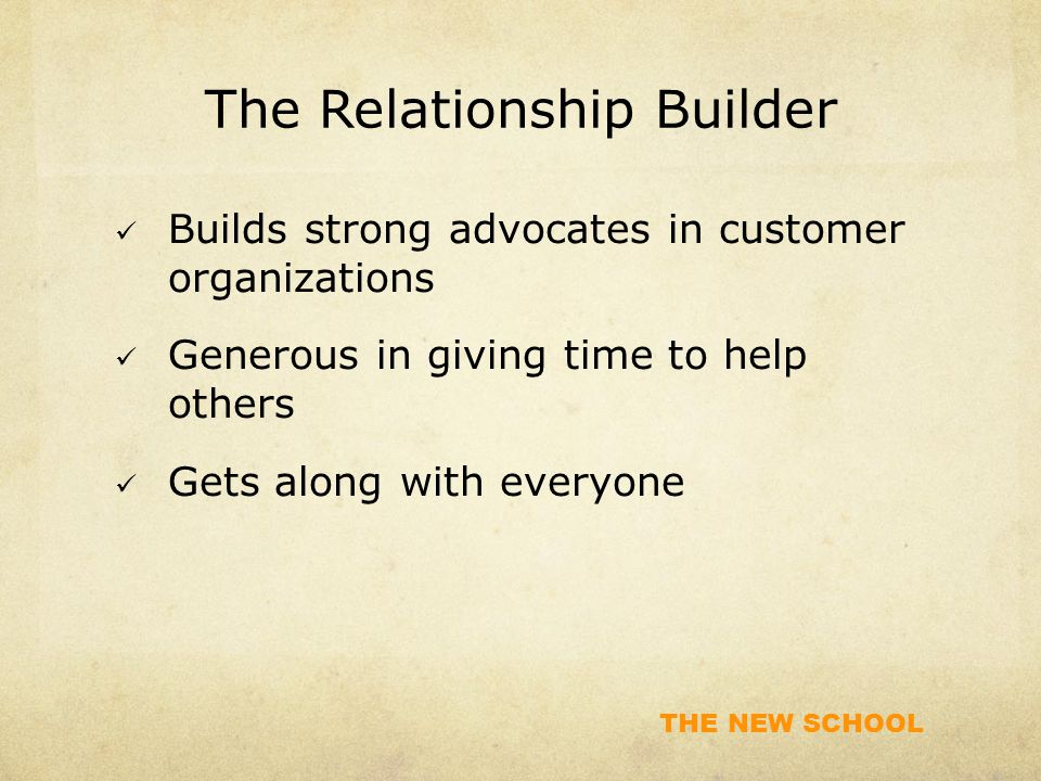 The Relationship Builder