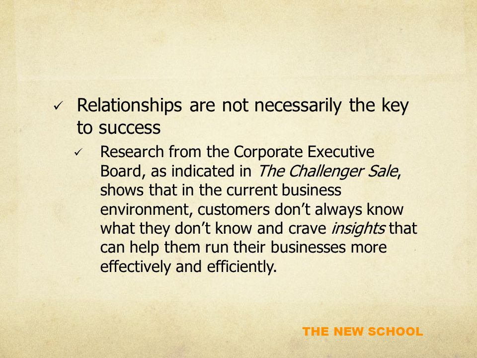 Relationships are not necessarily the key to success