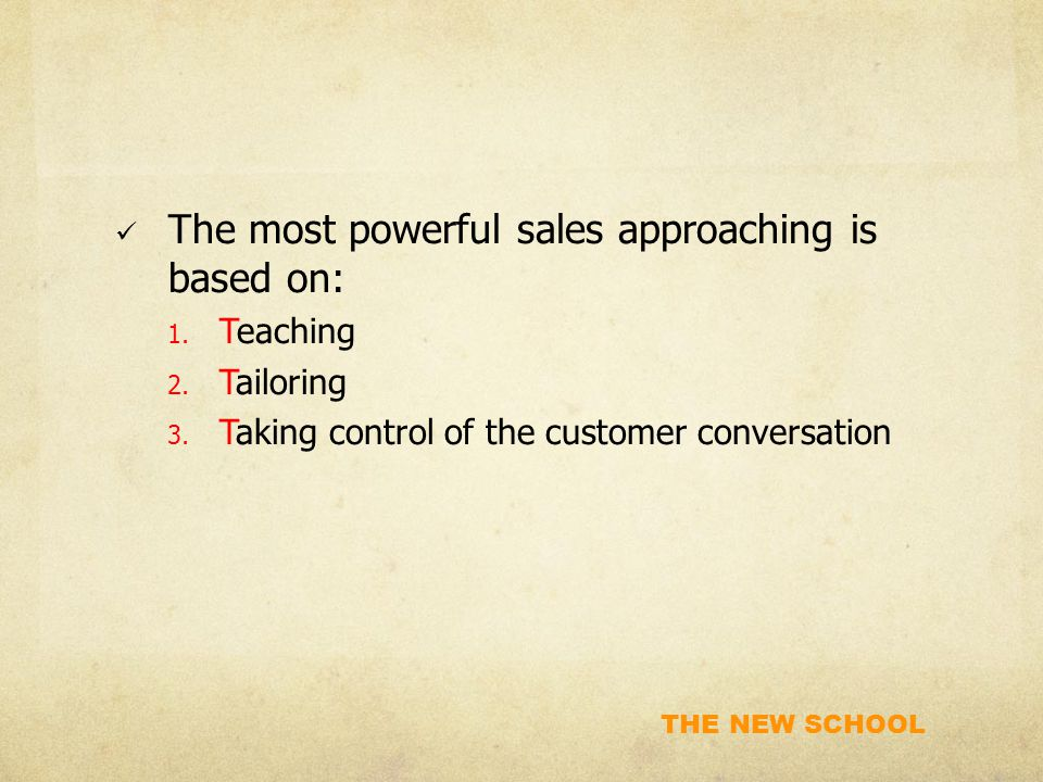 The most powerful sales approaching is based on: