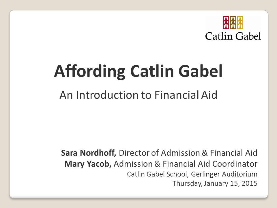 Affording Catlin Gabel
