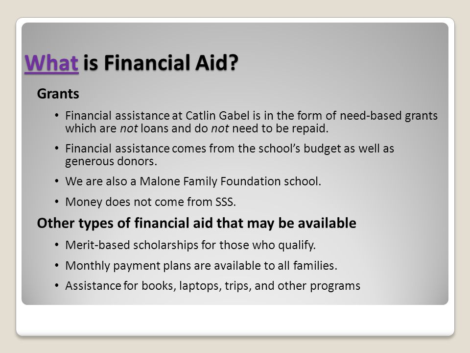 What is Financial Aid Grants