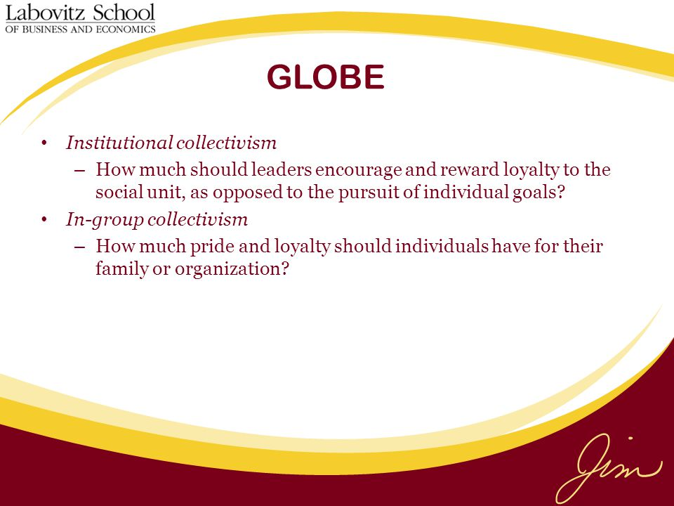 GLOBE Institutional collectivism