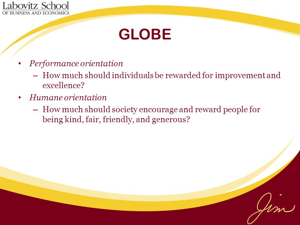 GLOBE Performance orientation