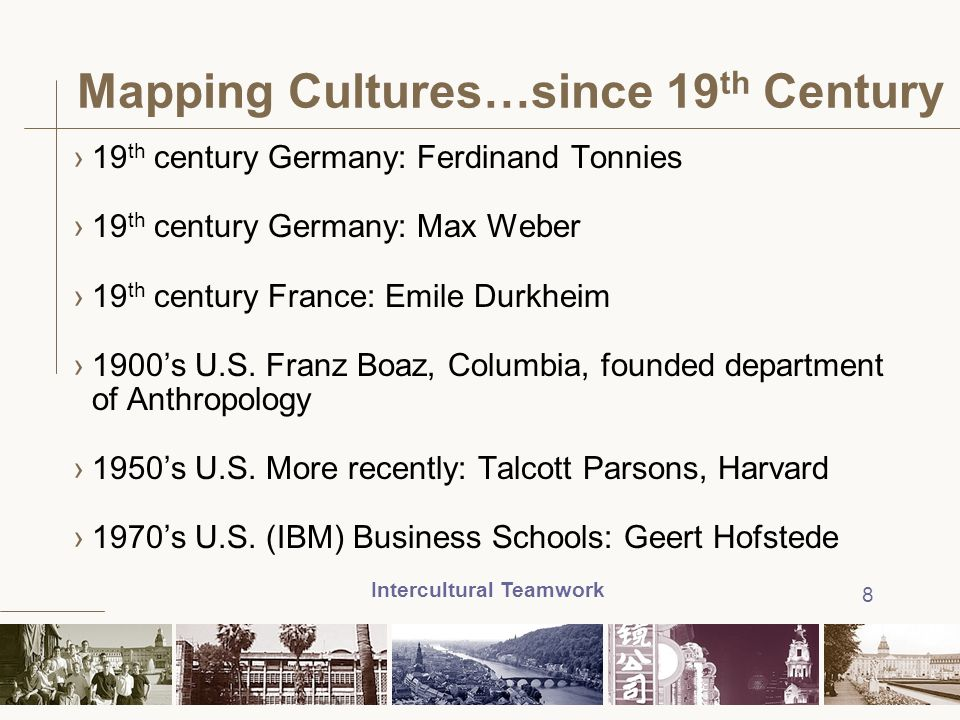 Mapping Cultures…since 19th Century