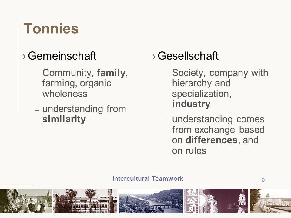 Tonnies Gemeinschaft Gesellschaft