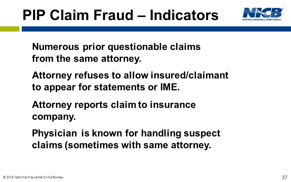 PIP Claim Fraud – Indicators