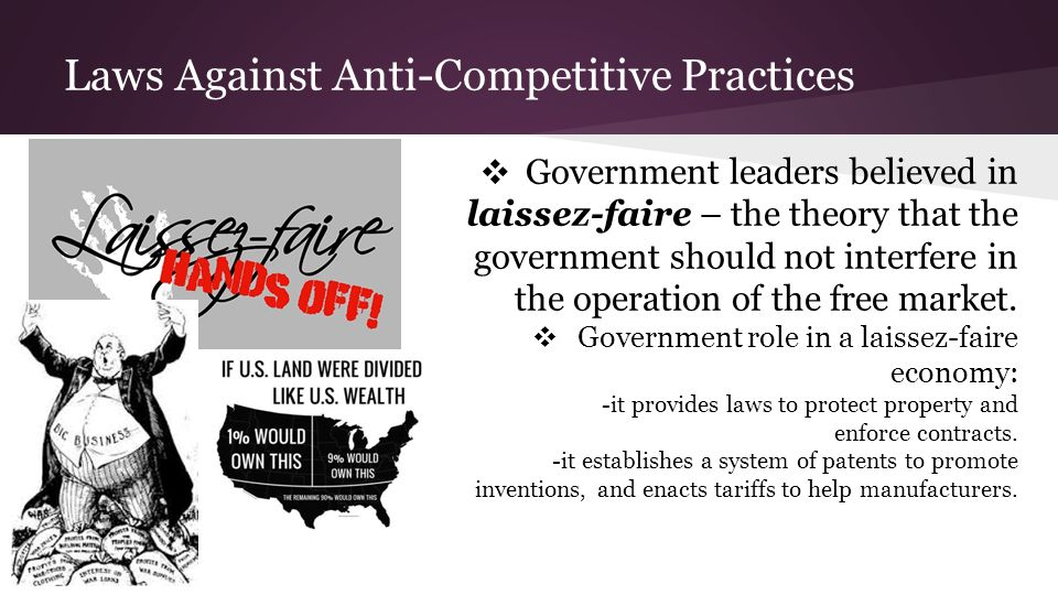 Laws Against Anti-Competitive Practices