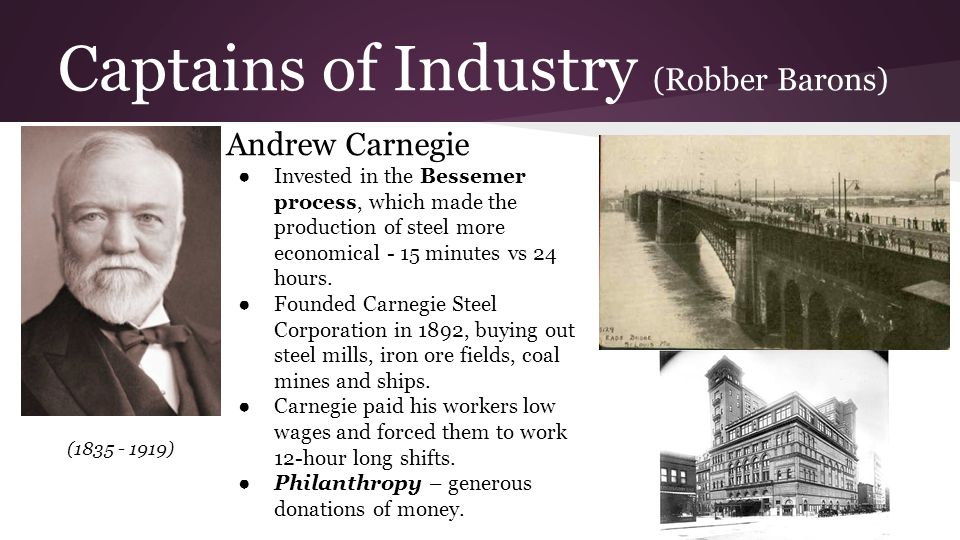 the captains of the railroad industry Stories from pa history continue the story overview: the railroad development created hundreds of thousands of jobs and industrial tycoons with holdings in pennsylvania railroading - jay gould and andrew carnegie - became symbols of the captains of industry who cared little for.