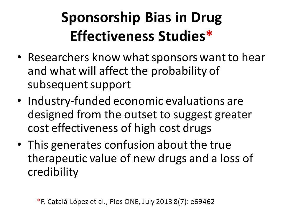 Sponsorship Bias in Drug Effectiveness Studies*