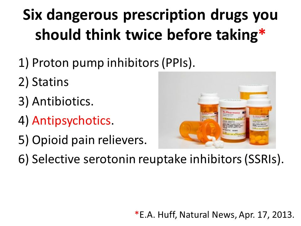 Six dangerous prescription drugs you should think twice before taking*