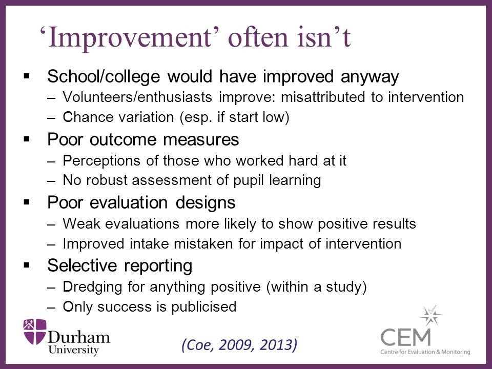 'Improvement' often isn't