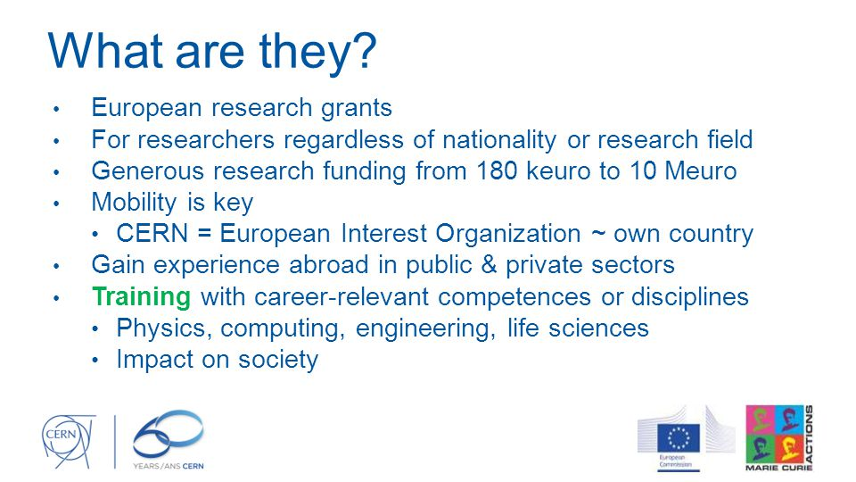 What are they European research grants