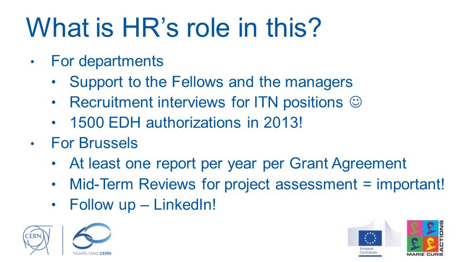 What is HR's role in this