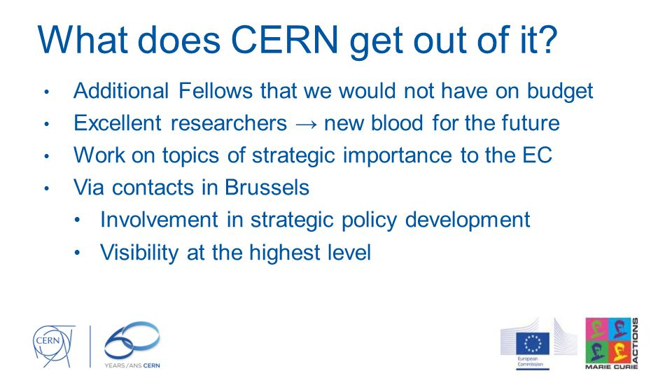 What does CERN get out of it