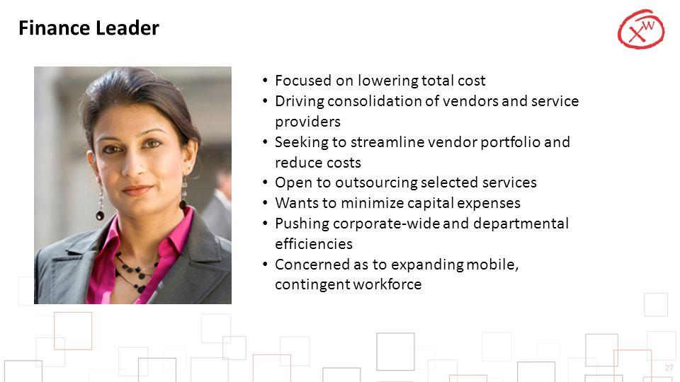 Finance Leader Focused on lowering total cost