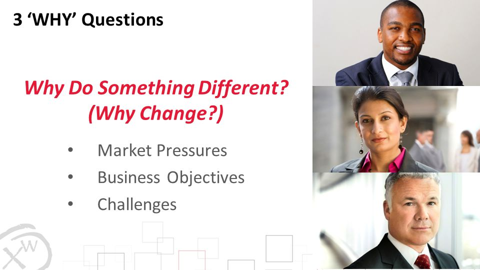 Why Do Something Different (Why Change )