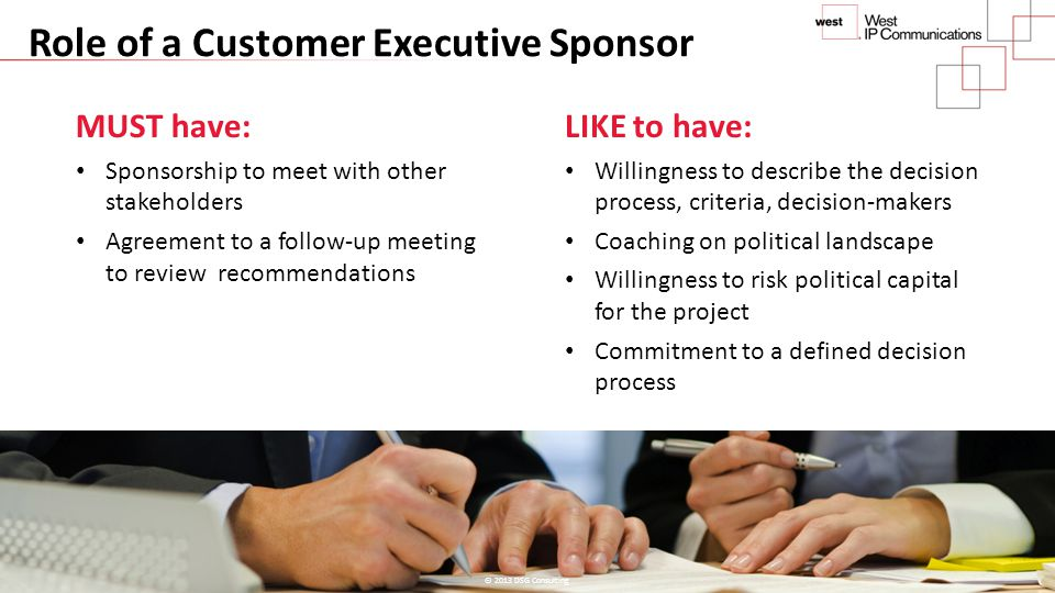 Role of a Customer Executive Sponsor