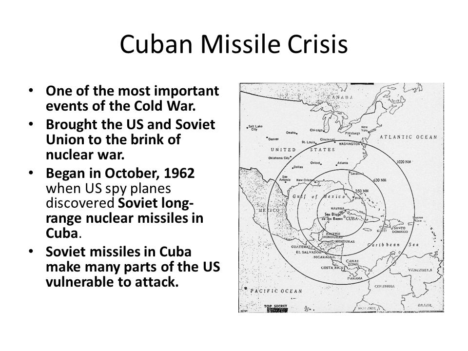 cuban missile crisis a key event in the cold war To our understanding of such key events in the cold war as the marshall plan, the  korean war, and the cuban missile crisis they demonstrate the importance.