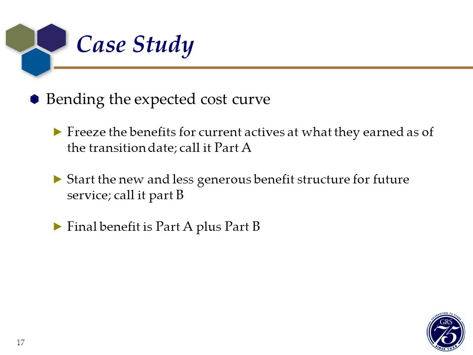 Case Study Bending the expected cost curve